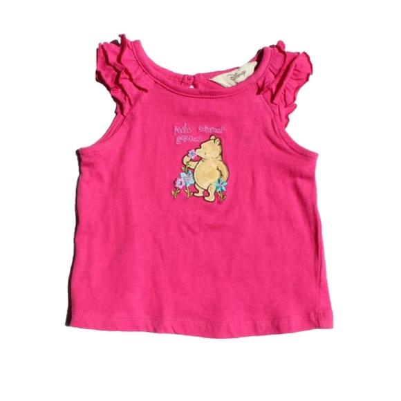 🔆3/$15 Disney Pooh Bear T-shirt, Size 12-18 M